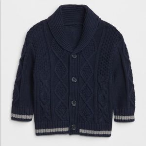 Baby Gap cable knit cardigan shawl sweater